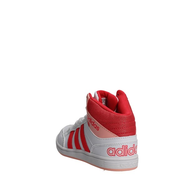 <Adidas Shoes High Sneakers White/Pink B74653