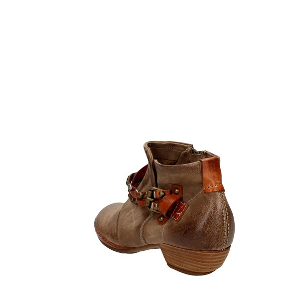 <Airstep Shoes Ankle Boots With Heels Brown 125207