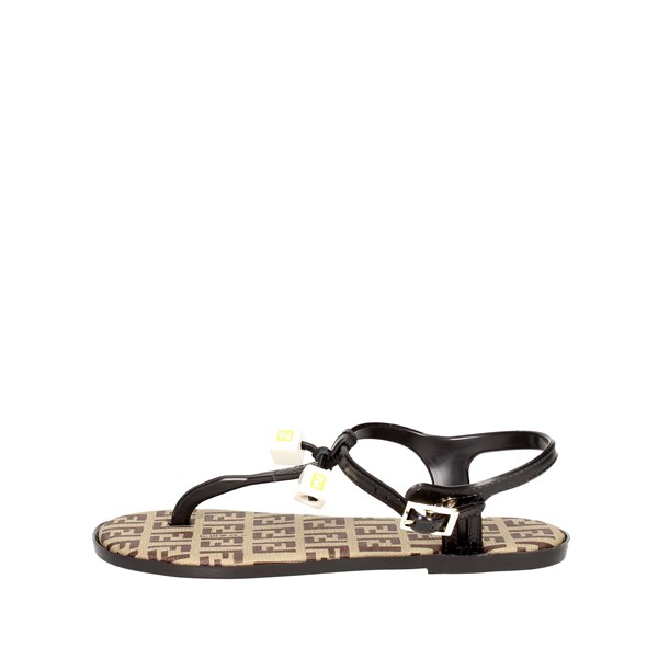 Fendi Shoes Flip Flops Black 4AA606