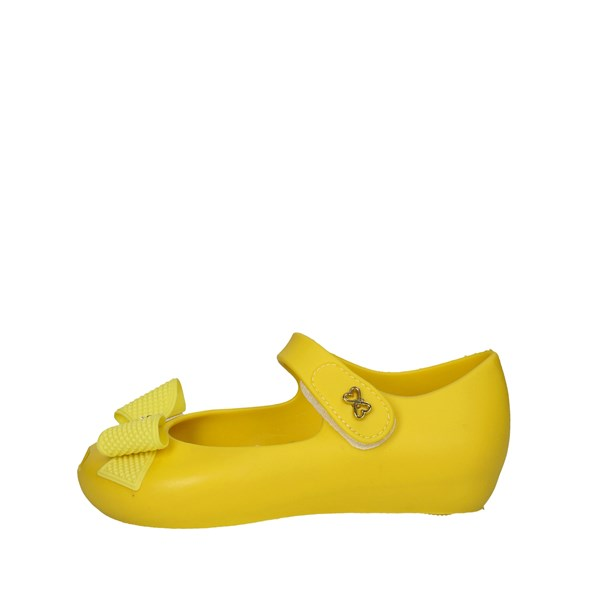 World Colors Shoes Ballet Flats Yellow C046.1151