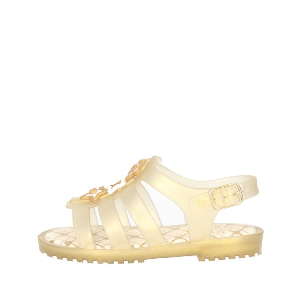World Colors Shoes Sandals Gold F128.1463