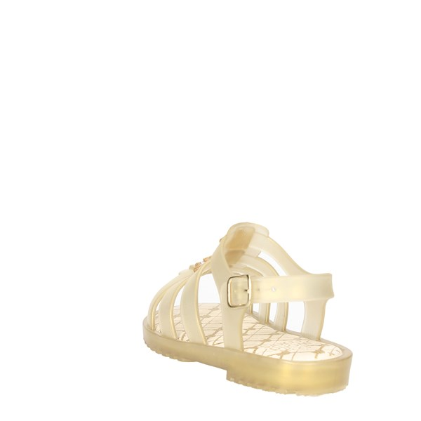 <World Colors Shoes Sandals Gold F128.1463