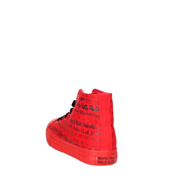 <Beverly Hills Polo Club Scarpe Bambino Sneakers Alta ROSSO BH-5061