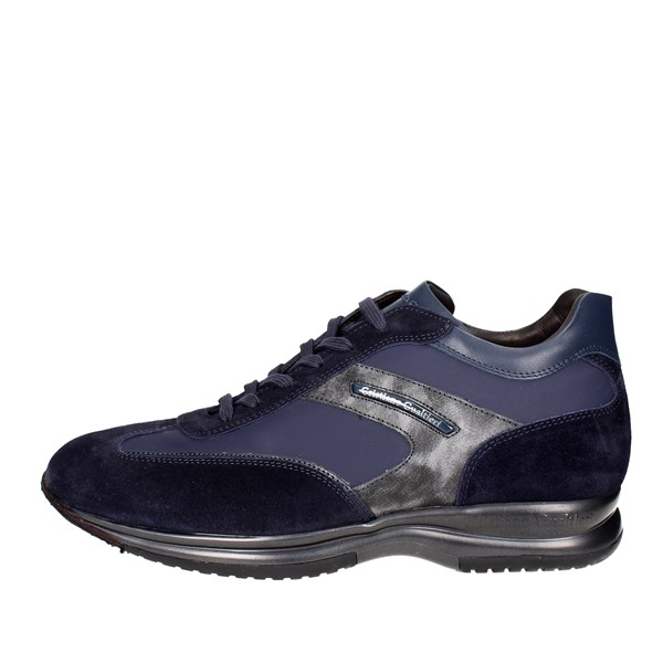 Cristiano Gualtieri Shoes Low Sneakers Blue 458/1P-D