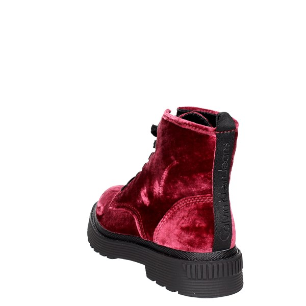 <Calvin Klein Jeans Shoes Boots Burgundy R0553