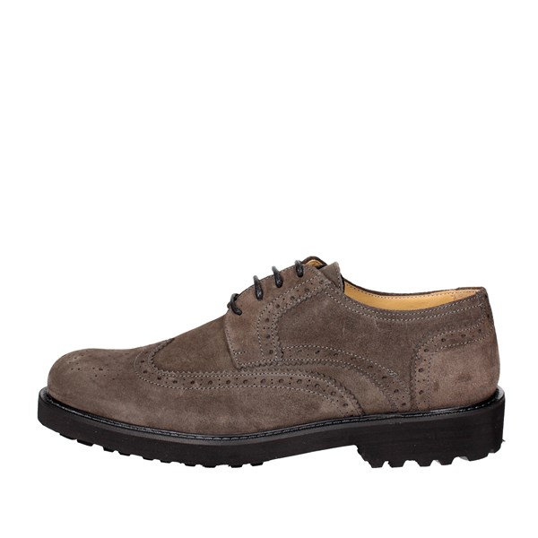 Exton Shoes Brogue Grey 5446