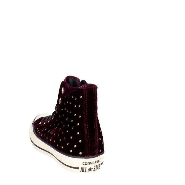 <Converse Shoes High Sneakers Burgundy 558992C