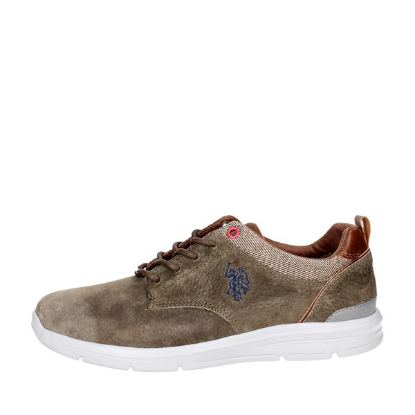 U.s. Polo Assn Shoes Low Sneakers Brown Taupe WALDO4004W7/S1