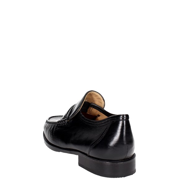 <Fontana Shoes Moccasin Black 1939-N