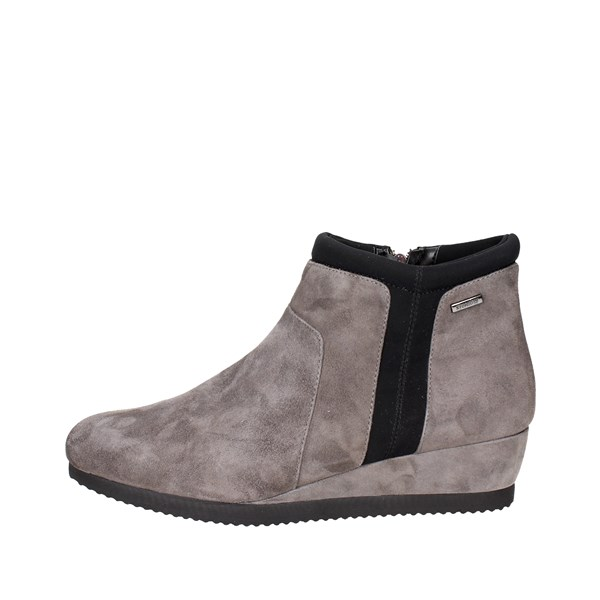 Stonefly Shoes Ankle Boots With Wedge Heels Grey/Black 107040 M27