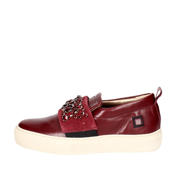 D.a.t.e. Shoes Slip-on Shoes Burgundy I17-18