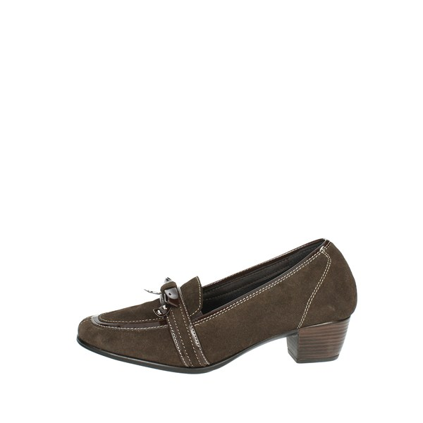 Sanagens Shoes Moccassin With Heel Brown 4459 S 042
