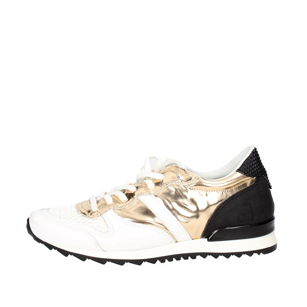 D.a.t.e. Shoes Low Sneakers White/Gold E18-124