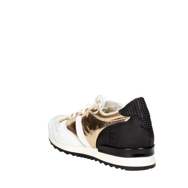 <D.a.t.e. Shoes Low Sneakers White/Gold E18-124