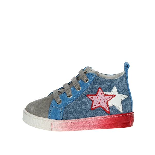 Falcotto Shoes High Sneakers Sky-blue 0012012337.01.9102