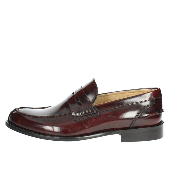 Exton Shoes Moccasin Burgundy 102