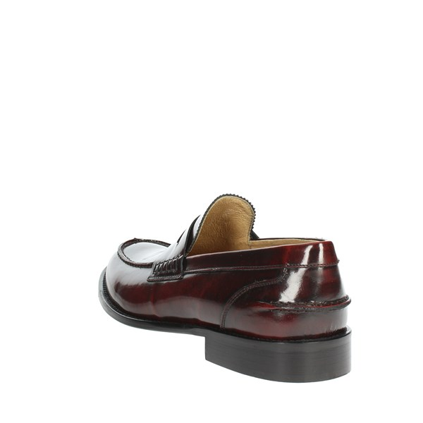<Exton Shoes Moccasin Burgundy 102