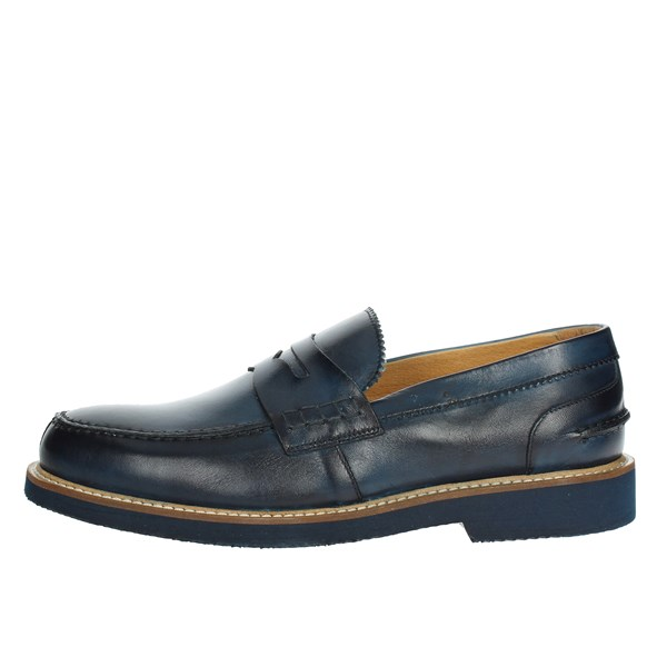 Exton Shoes Moccasin Blue 9102