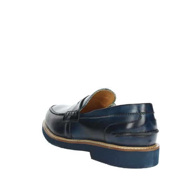 <Exton Shoes Moccasin Blue 9102