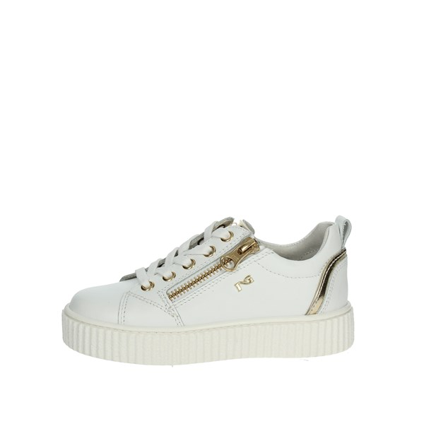 Nero Giardini Shoes Low Sneakers White/Gold P830142F/707