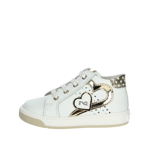 Nero Giardini Shoes High Sneakers White/Gold P820191F/707