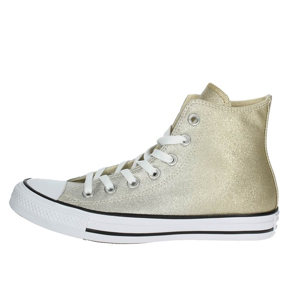 Converse Shoes High Sneakers Gold 159601C