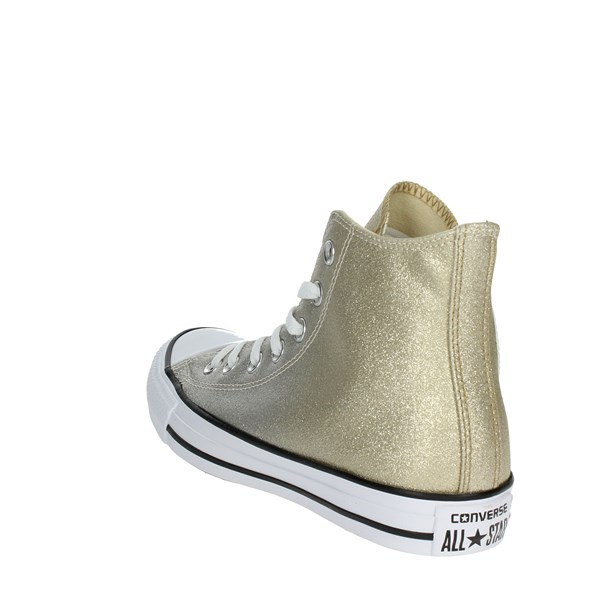 <Converse Shoes High Sneakers Gold 159601C