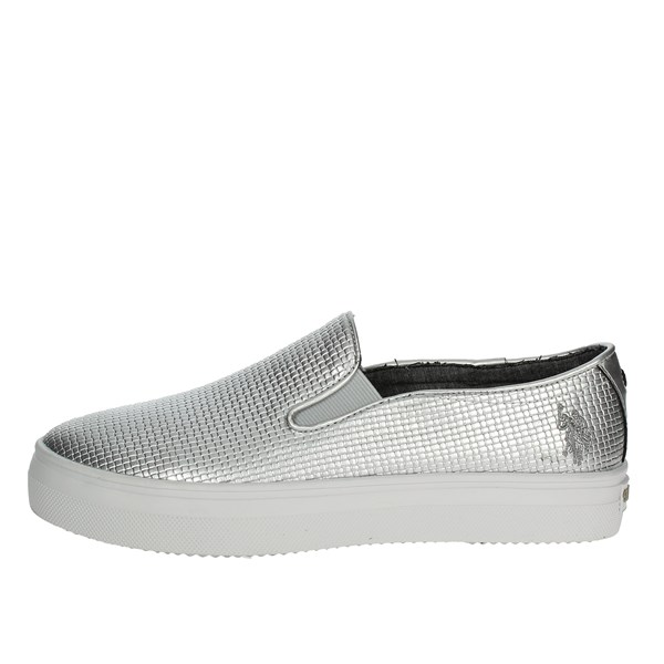 U.s. Polo Assn Shoes Slip-on Shoes Silver TRIXY4155S7/YL3