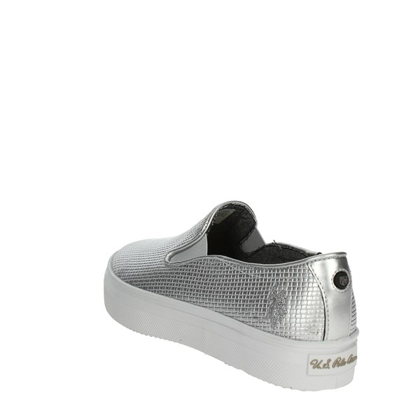 <U.s. Polo Assn Shoes Slip-on Shoes Silver TRIXY4155S7/YL3