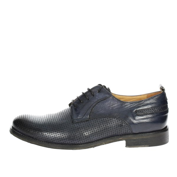 Exton Shoes Brogue Blue 9430