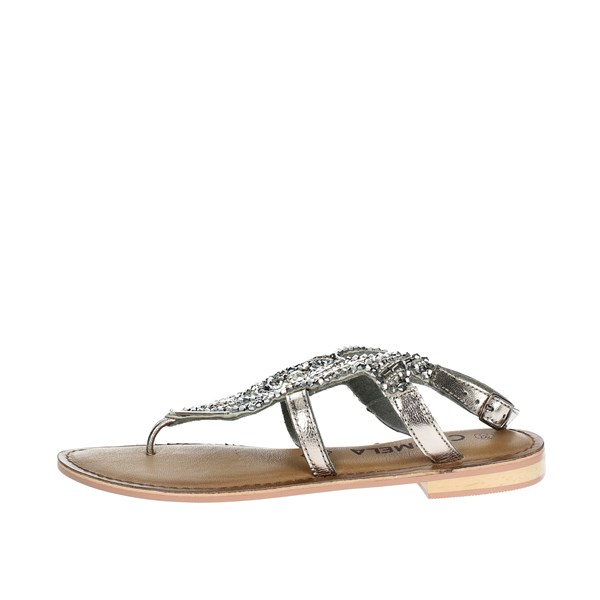Carmela Shoes Flip Flops Charcoal grey 66222