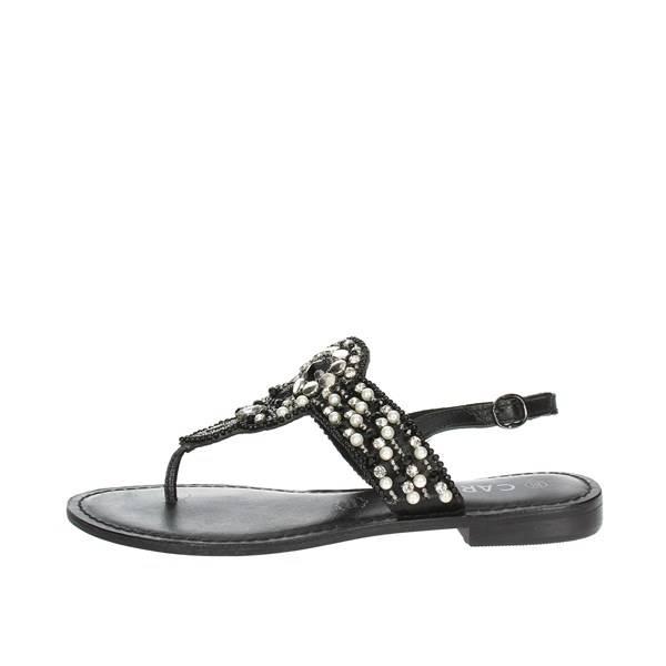 Carmela Shoes Flip Flops Black 66221