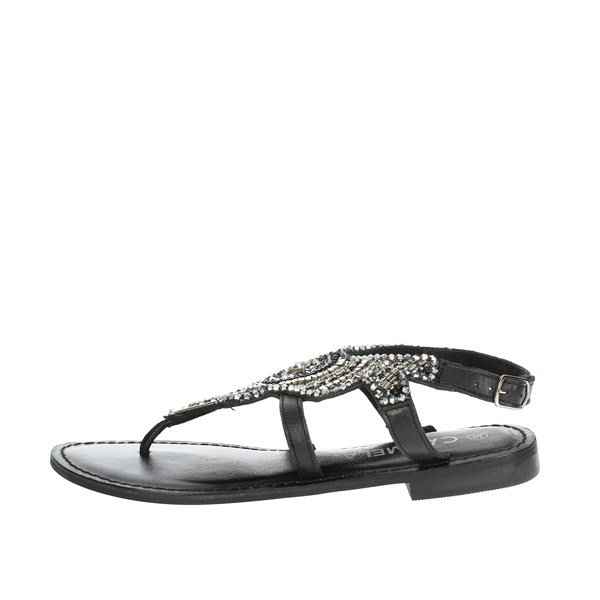 Carmela Shoes Flip Flops Black 66222