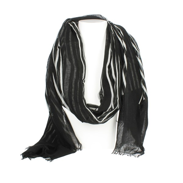 Bikkembergs Accessories Pashmina Black/White SCR 12096