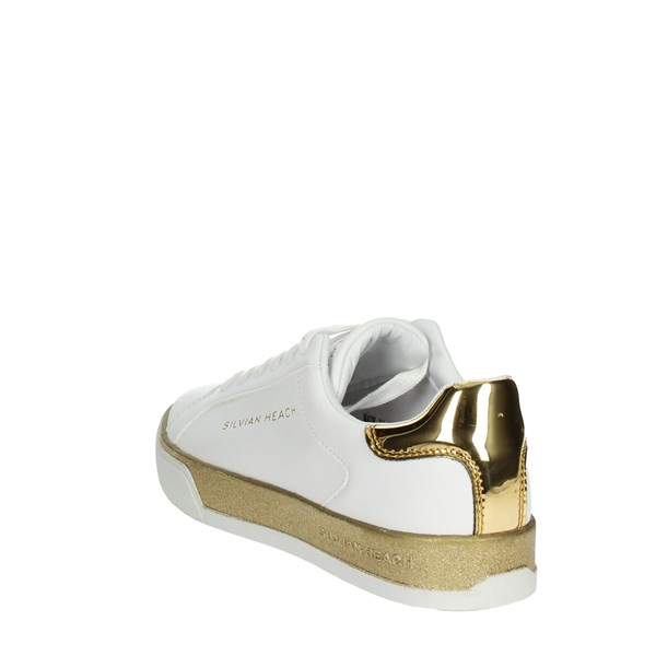 <Silvian Heach Shoes Low Sneakers White/Gold SH-25