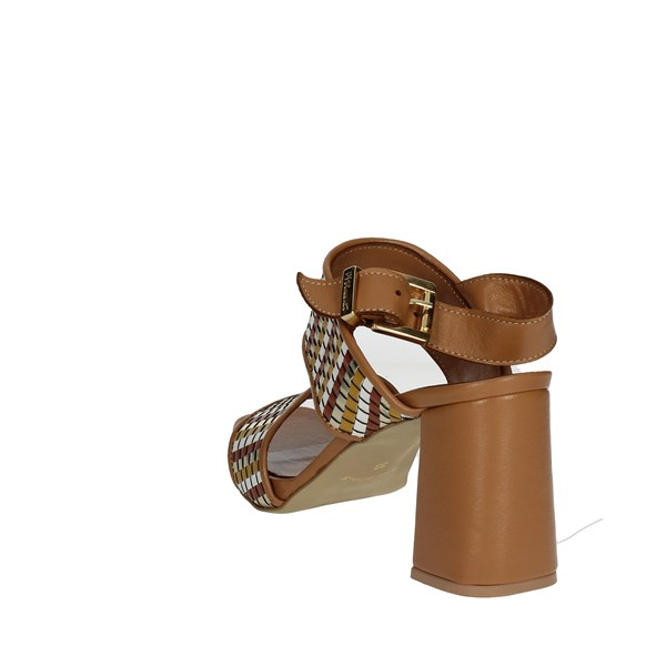 Pierfrancesco Vincenti Shoes Sandal Brown leather 2511