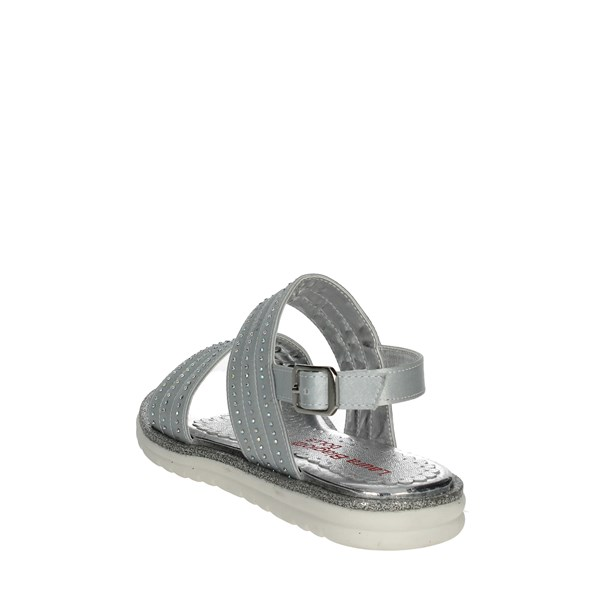 <Laura Biagiotti Dolls Shoes Sandals Silver 4131