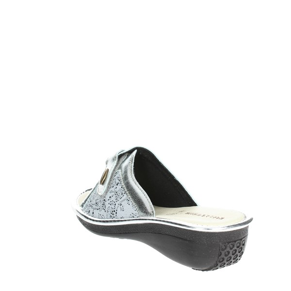 <Valleverde Shoes Clogs Silver 37205