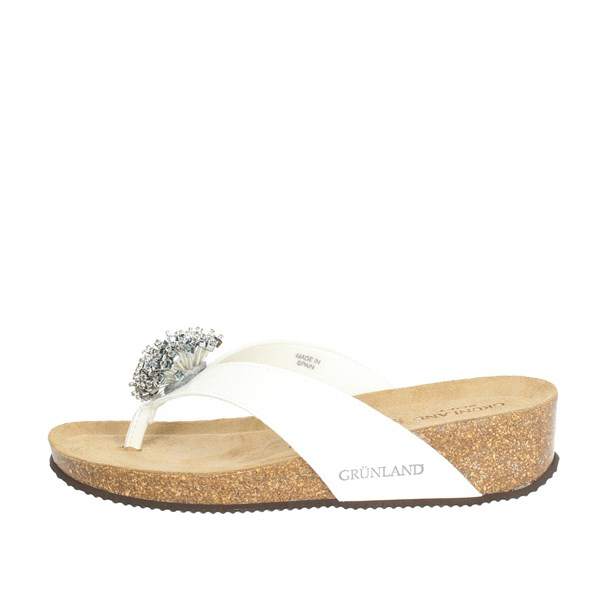 Grunland Shoes Flip Flops White CB1606-70