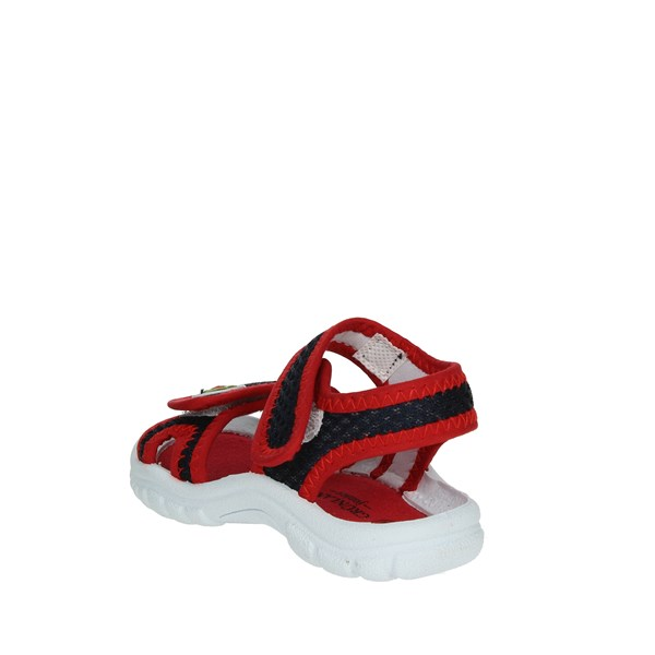 <Grunland Shoes Sandal Blue/Red PS0051-48