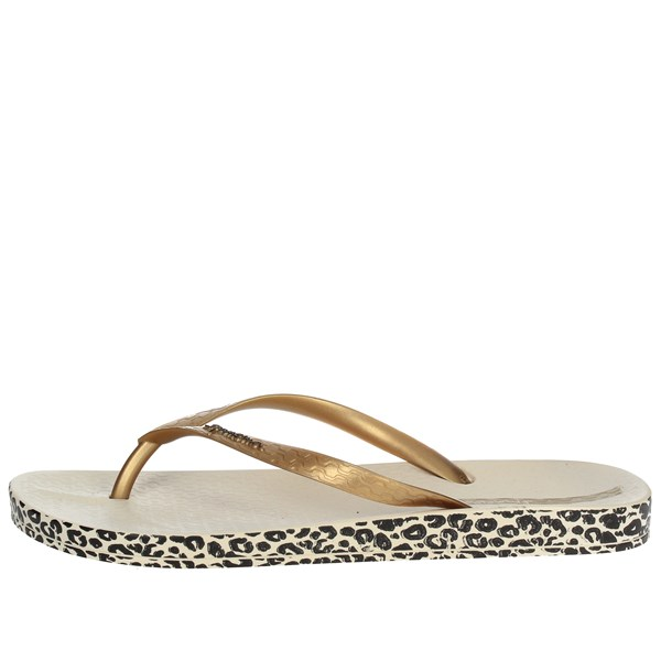 Ipanema Shoes Flip Flops Gold 25924 20776