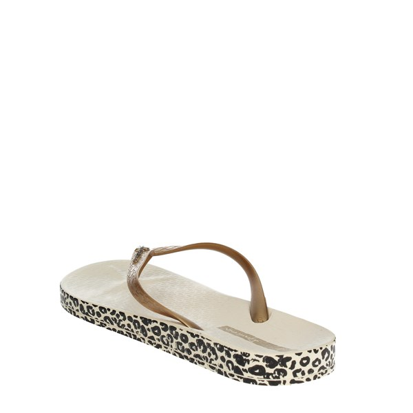<Ipanema Shoes Flip Flops Gold 25924 20776