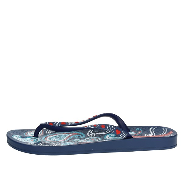 Ipanema Shoes Flip Flops Blue/Red 81922 20561
