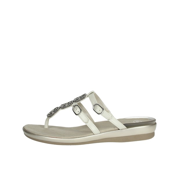 Scholl Shoes Flip Flops White ELBERETH