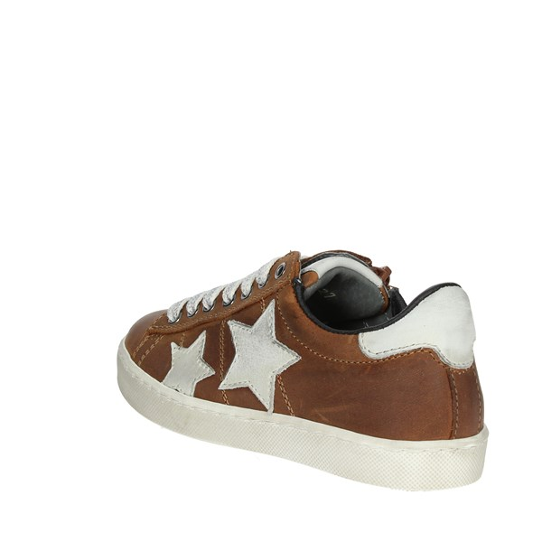 Ciao Bimbi Shoes Sneakers Brown leather 8787.24