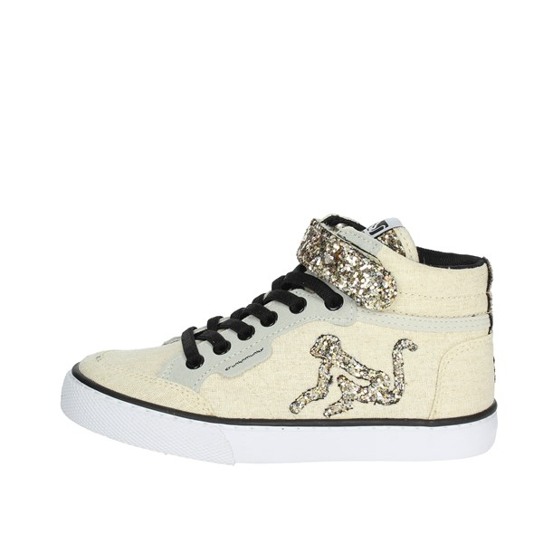 Drunknmunky Scarpe Bambina Sneakers ORO BOSTON ROCK STAR K73