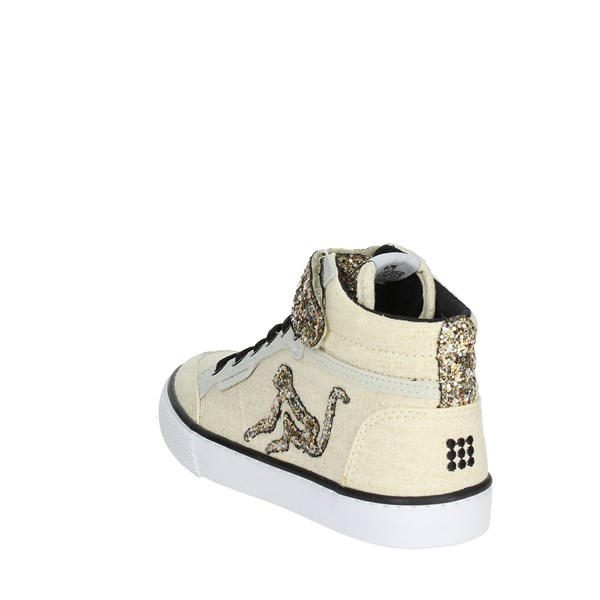 Drunknmunky Shoes Sneakers Gold BOSTON ROCK STAR K73