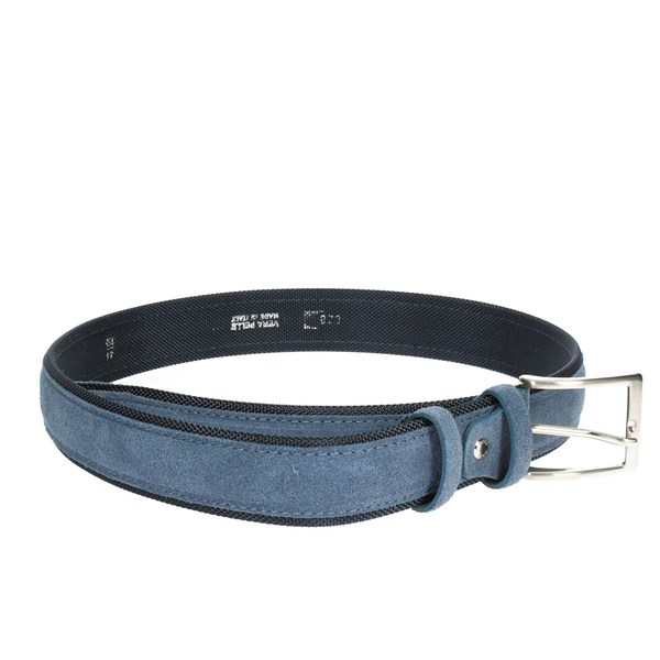Francesco Muto Accessories Belt Blue Avio 828-D