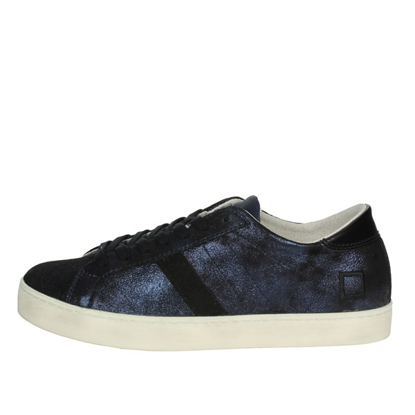 D.a.t.e. Scarpe Donna Sneakers BLU/NERO HILL LOW-9I