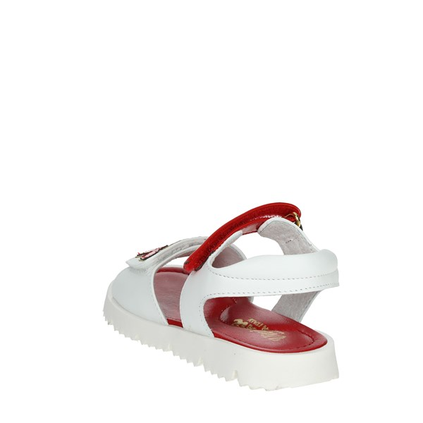 <Viviane Shoes Sandals White/Red 3026-A